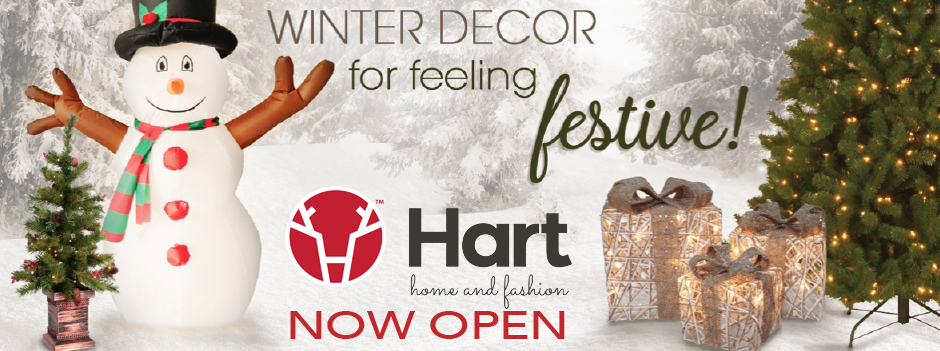Hart Home and Fashion Opening December 12